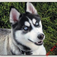 How can you say no to This Face? Let This Playful Husky Puppy Brighten Your Day! Great gift Dog animal Lover wolf Mousepad FREE SHIPPING