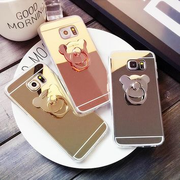 Kawaii Bear Mirror Phone Case