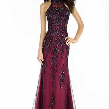 Alyce 6721 Racerback Beaded Lace Gown