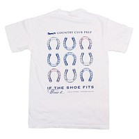 If The Shoe Fits Tee in White by Southern Proper & CCP
