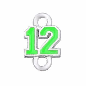 2 Styles Enamel Football Seahawks Proud And Loud 12 Charms The Forever 12 Pendant Charms For DIY Necklace & Bracelet & Earring