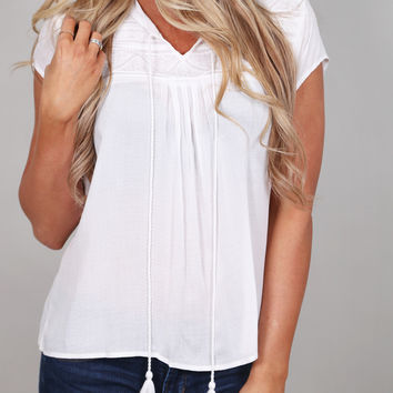 Spring Festival Top {Ivory}
