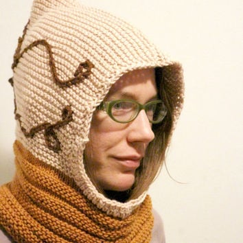 Animal Hoodie Knitting Pattern : Shop Crochet Hood Hats on Wanelo