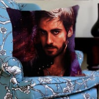 Once Upon a Time Captain Hook on Decorative Pillow Cover by NaystaCover