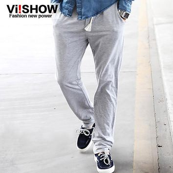 Viishow Solid Mens Pants Cotton Fashion Men Hip Hop Trousers Loose Harem Cargo Pants for Men Brand Sweatpants vsk40009