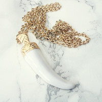 Tusk Til Dawn Necklace