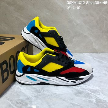 KUYOU A423 Kanye West x Adidas Yeezy Runner Boost 700 Fashion Running Shoes Yellow Red Blue