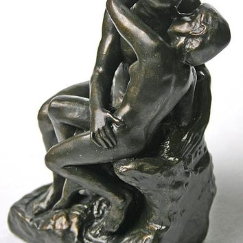 The Kiss by Rodin Statue Bronze Finish, Parastone Collection, Assorted Sizes