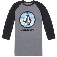 Volcom Rampart Lockup Raglan T-Shirt - Mens Tee - Black