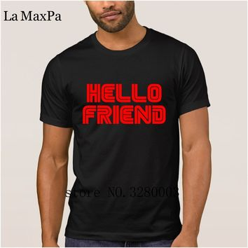 La Maxpa Design fashion men's t shirt hello friend mr robot t-shirt men Spring Autumn Unique tee shirt O Neck Interesting