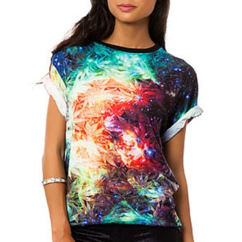 The Space Weed Tee in Multi