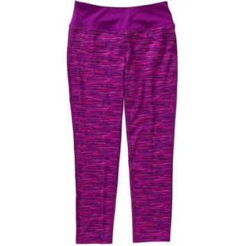 Danskin Now Girls Fitted Performance Leggings, Small 6-6X, Purple Space Dye