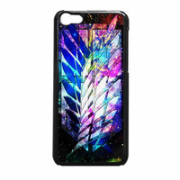 Attack On Titan Military Logo Carbon Nebula iPhone 5c Case