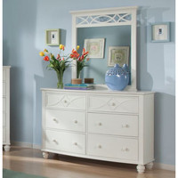 Homelegance Sanibel 6 Drawer Dresser w/ Mirror in White