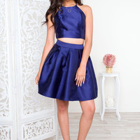What You See Skirt - Blue