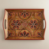 Handcrafted Wood Nomad Tiles Tray - World Market