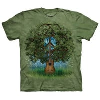 GUITAR TREE The Mountain Peace Recycle Sign Retro Hippie Music T-Shirt S-3XL NEW