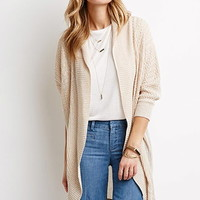 Mixed Knit Dolman Cardigan