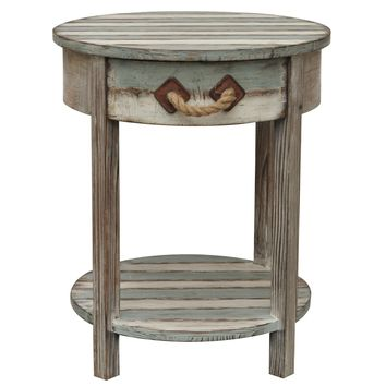 Nantucket 1 Drawer Weathered Wood Accent Table By Crestview Collection Cvfzr691