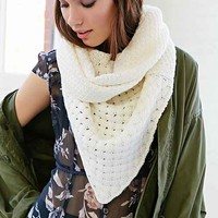 BDG Basket Weave Triangle Eternity Scarf- Ivory One