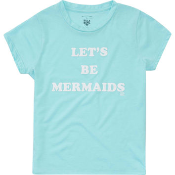 Billabong Girls - Let's Be Mermaids Tee | Surf Blue