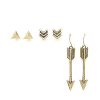 With Love From CA Down Arrow 3 Earring Set at PacSun.com