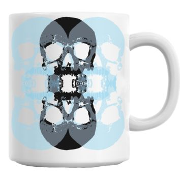 Skull Traced Ornament Mug