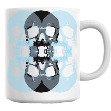 Skull Traced Ornament Coffee Mug Cup 11 Oz