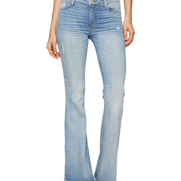Hudson Mia Five-Pocket Mid-Rise Flare Jeans in Aura