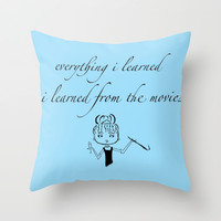 The Movies... Throw Pillow by Jaclyn Celeste
