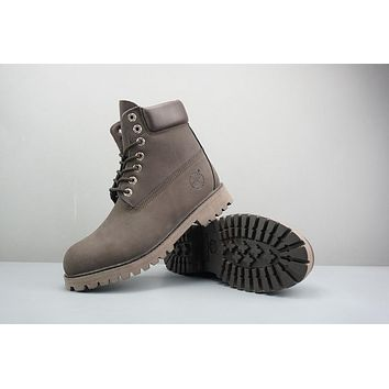 Timberland Leather Lace-Up Boot High Chocolate