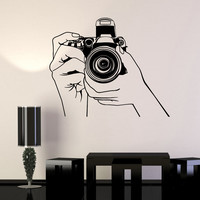 Vinyl Wall Stickers Photo Photography Photograph Journalist Decal (185ig)