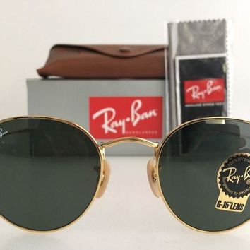 Gotopfashion AUTHENTIC RAY-BAN ROUND METAL RB3447 001 50MM GOLD FRAME G-15 LENS SUNGLASSES