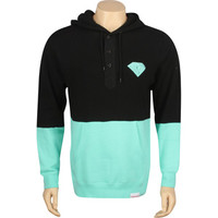 Diamond Supply Co Split Brilliant Henley Hoody (black / diamond) Apparel SPLITBRILBKD | PickYourShoes.com