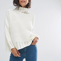 PrettyLittleThing Neck Detail Sweater at asos.com
