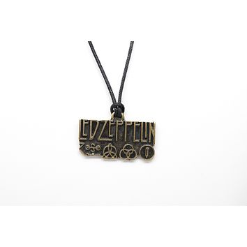 Led Zeppelin Unisex Necklace with Rope