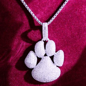 New Designer Men's Hip Hop Dog Paw Print Custom Pendant