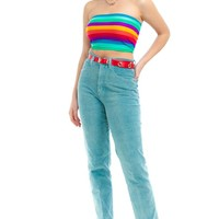Vintage 90's Stretch Corduroy Mom Jeans - M