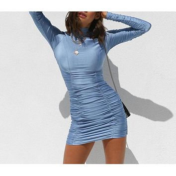 nightlife turtleneck bodycon dress