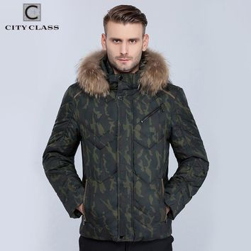 New Men Winter Jackets And Coats Fashion Casual Short Camouflage Stand Collar Removable Hat Winter warm