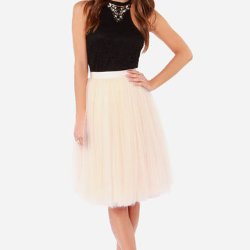 All in Good Cheer Peach Tulle Skirt