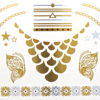 Gold and Silver Flash Tattoos - I Wear Red