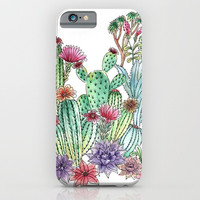 Cactus garden iPhone & iPod Case by Julia Grifol Designs