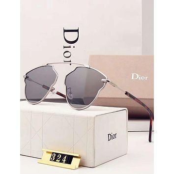 Dior Popular Ladies Casual Summer Sun Shades Eyeglasses Glasses Sunglasses Grey I-A-SDYJ