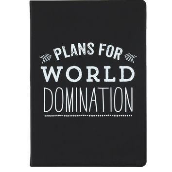 Plans for Wold Domination Journal in Black and White