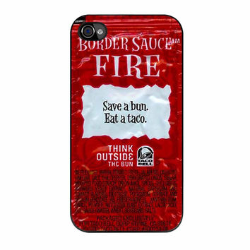 Taco Bell Packet Fire iPhone 4 Case