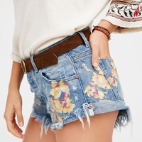 Free People Orchid Bandit Cutoffs