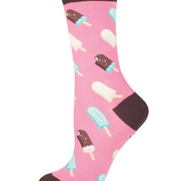 Womens Ice Cream Pop Crew Socks