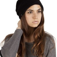 Plush Barca Slouchy Hat with Fleece-Lining In Black