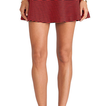 Splendid Belmont Stripe Skirt in Red